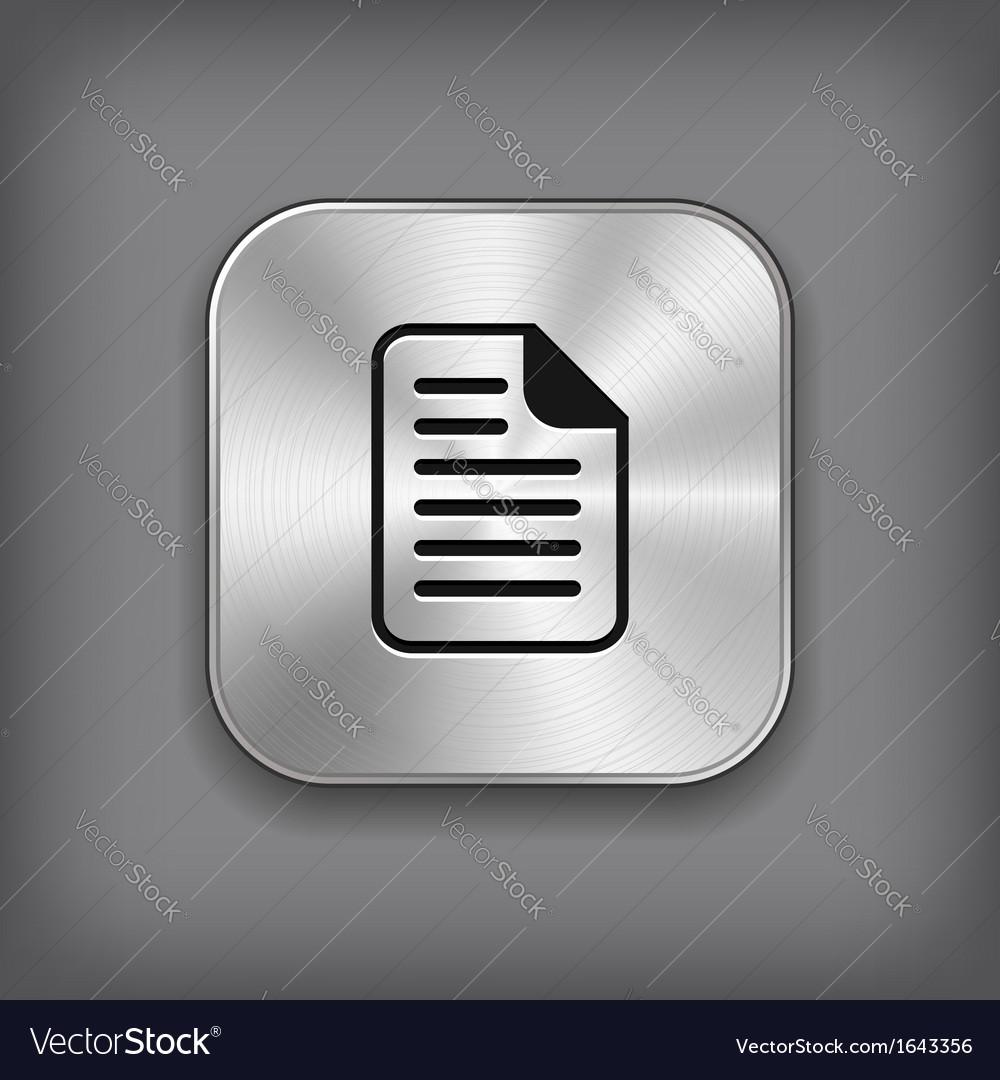 Document icon - metal app button