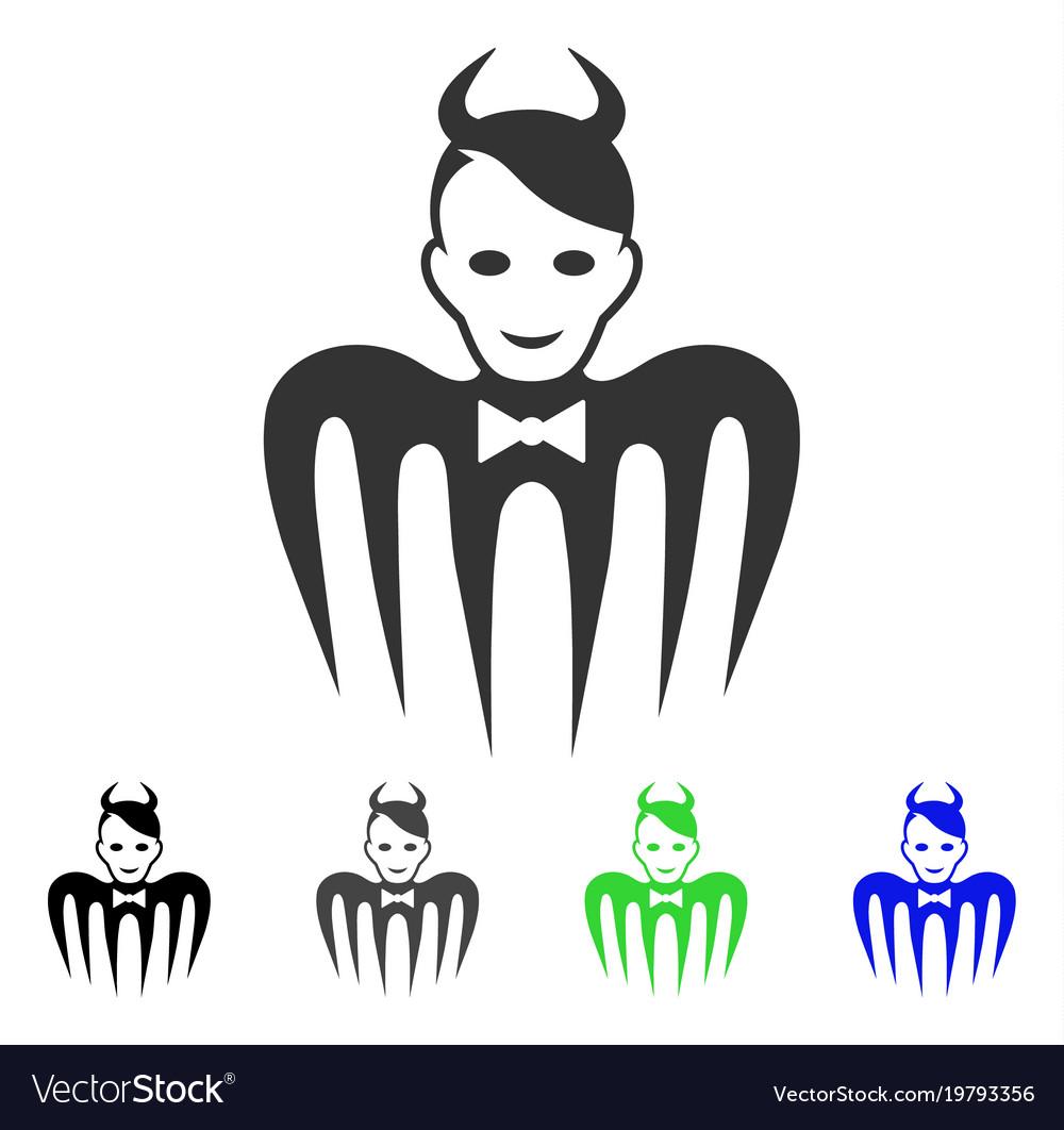 Glad devil spectre icon vector image