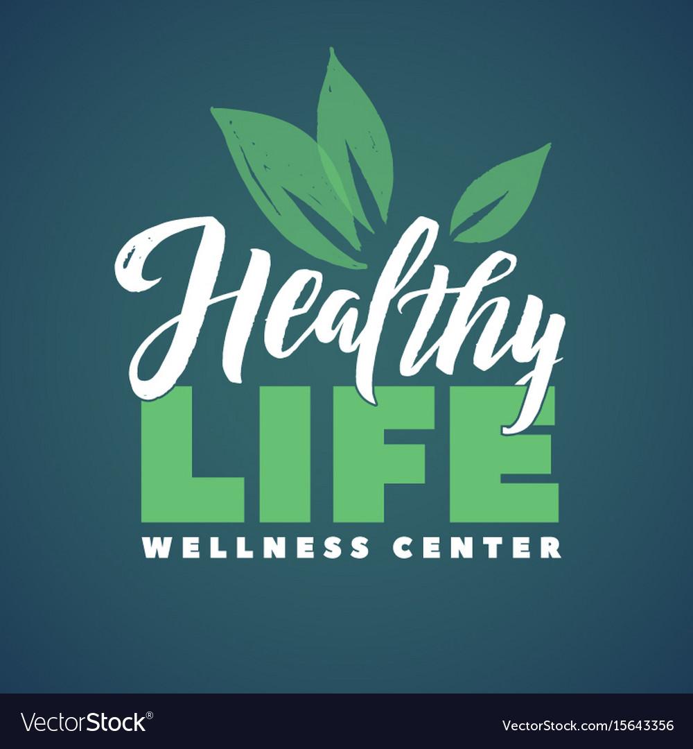 Health life wellness center logo stroke