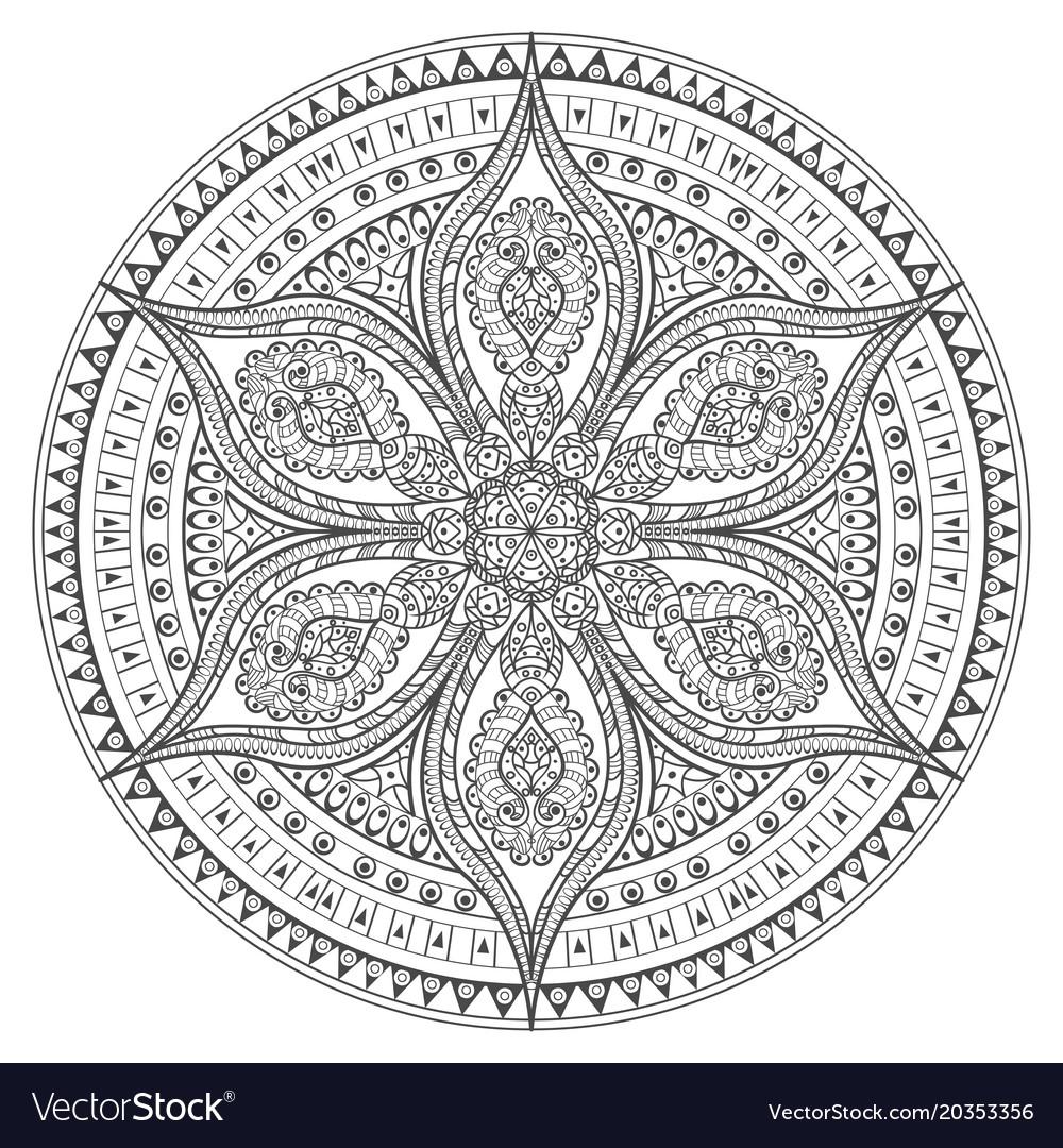 Mandala oriental decorative flower pattern
