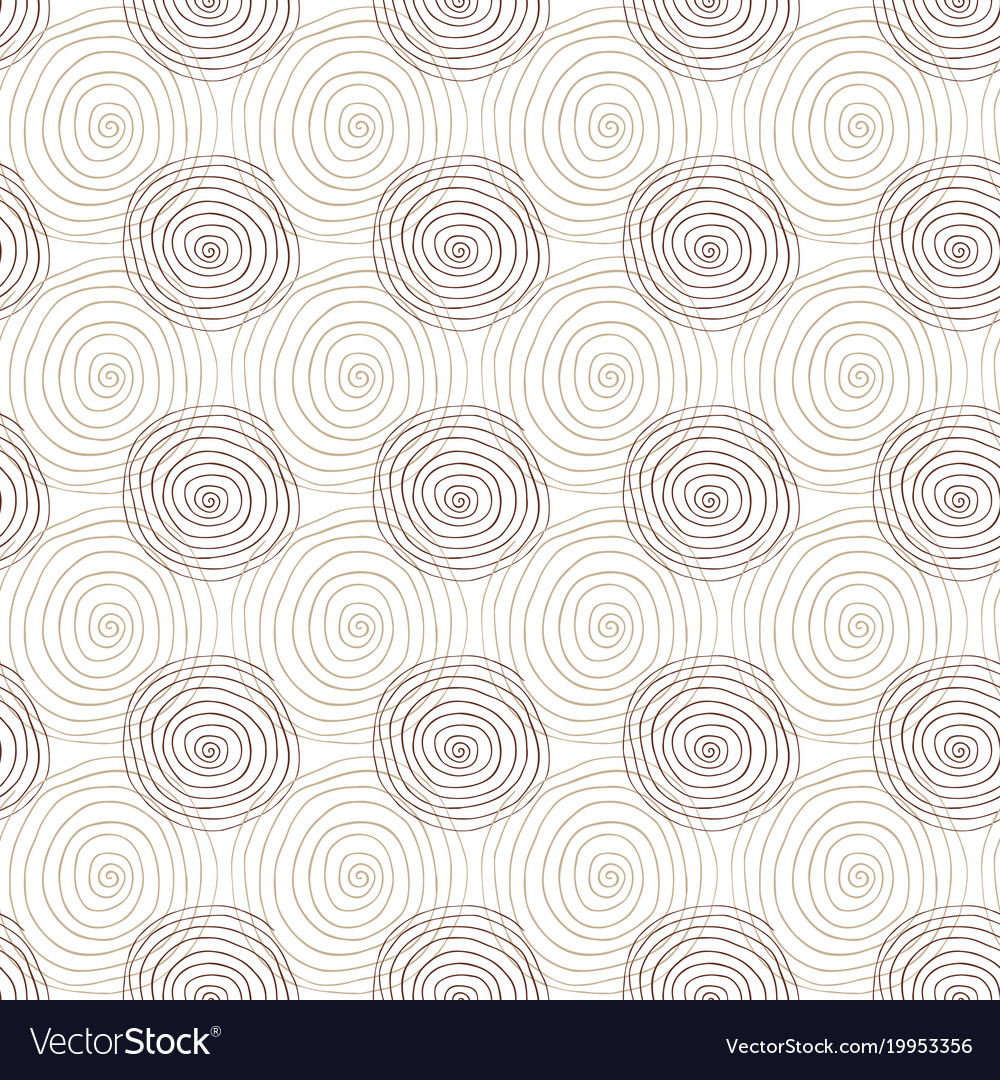Spiral seamless pattern in beige color repeating