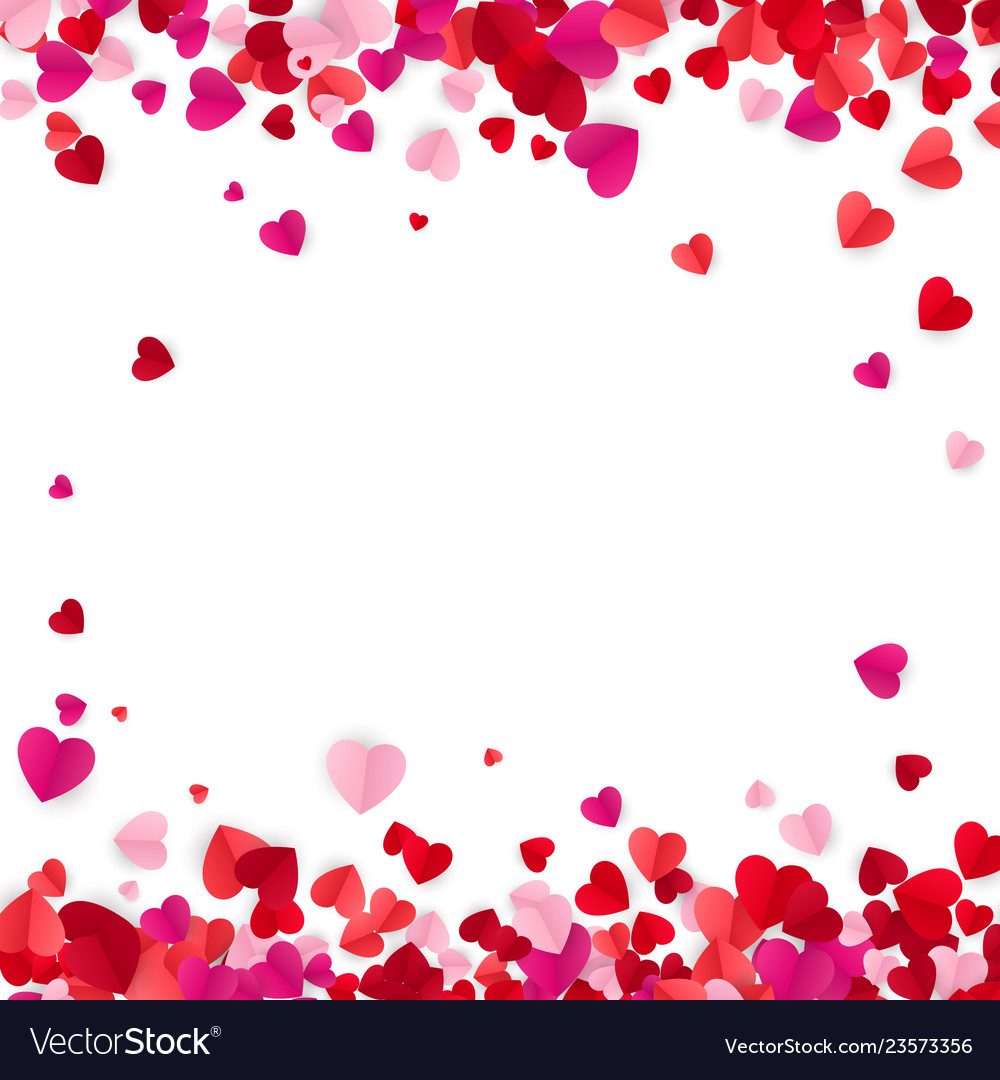 Valentines day background with hearts holiday