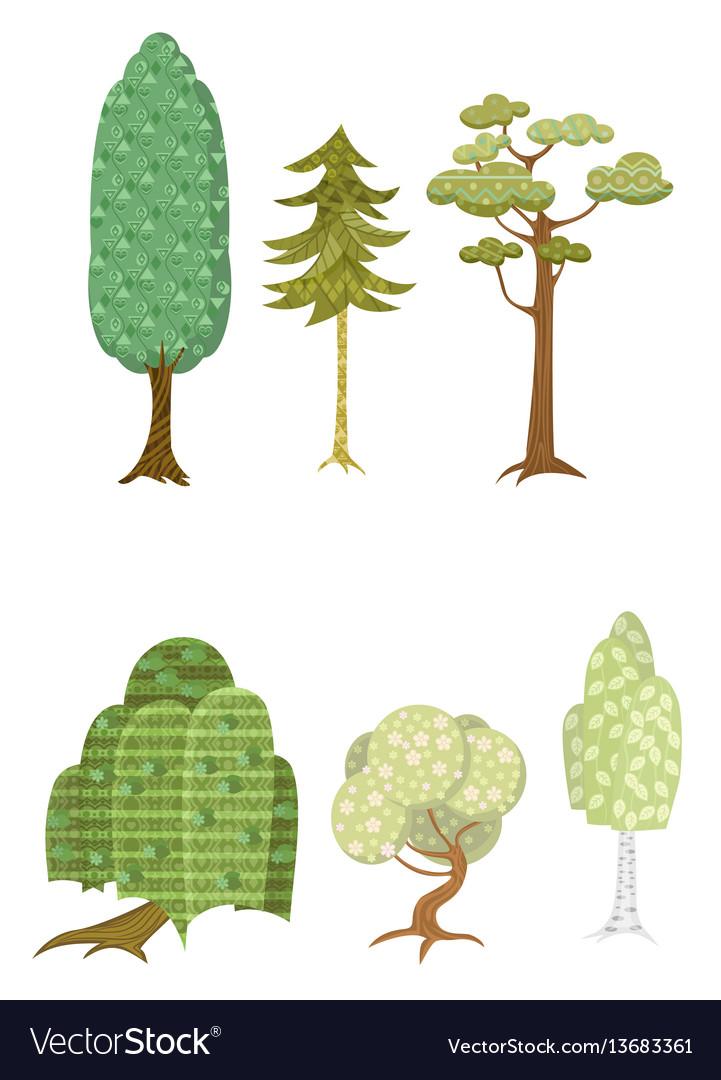 251 set of six trees