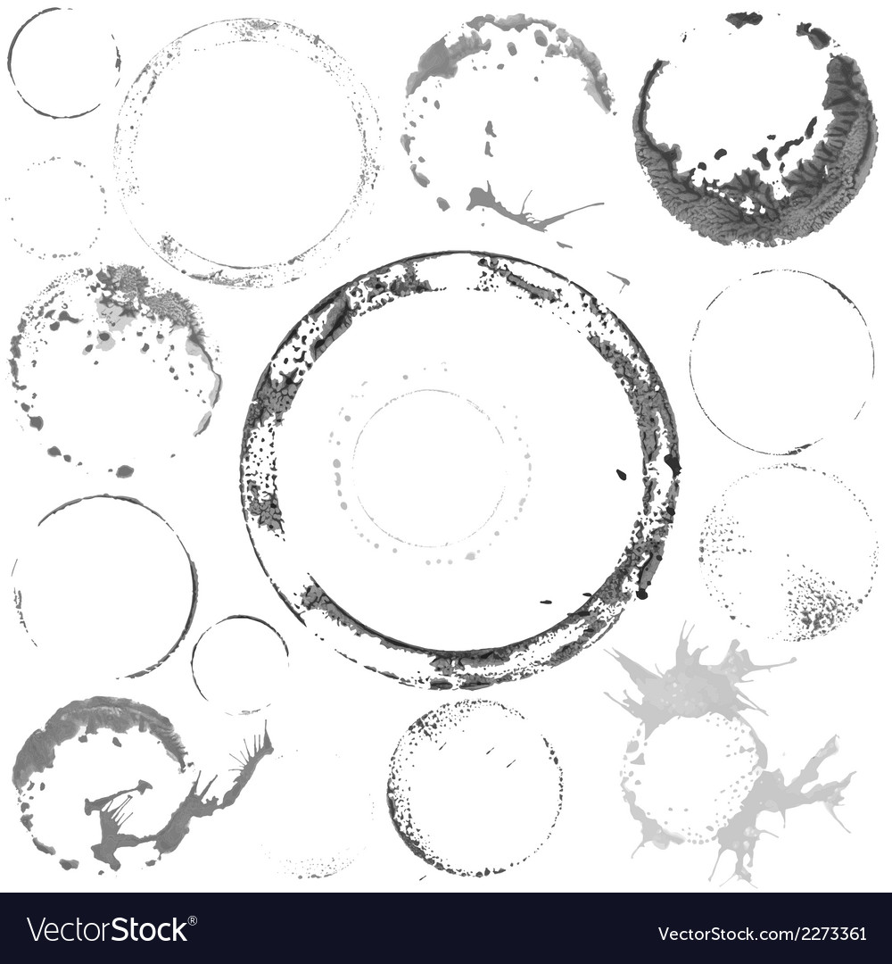Black and white paint circles vector image