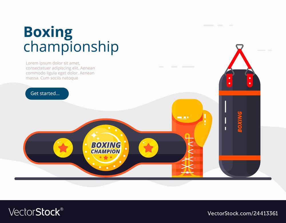 Boxing landing page sport banner design