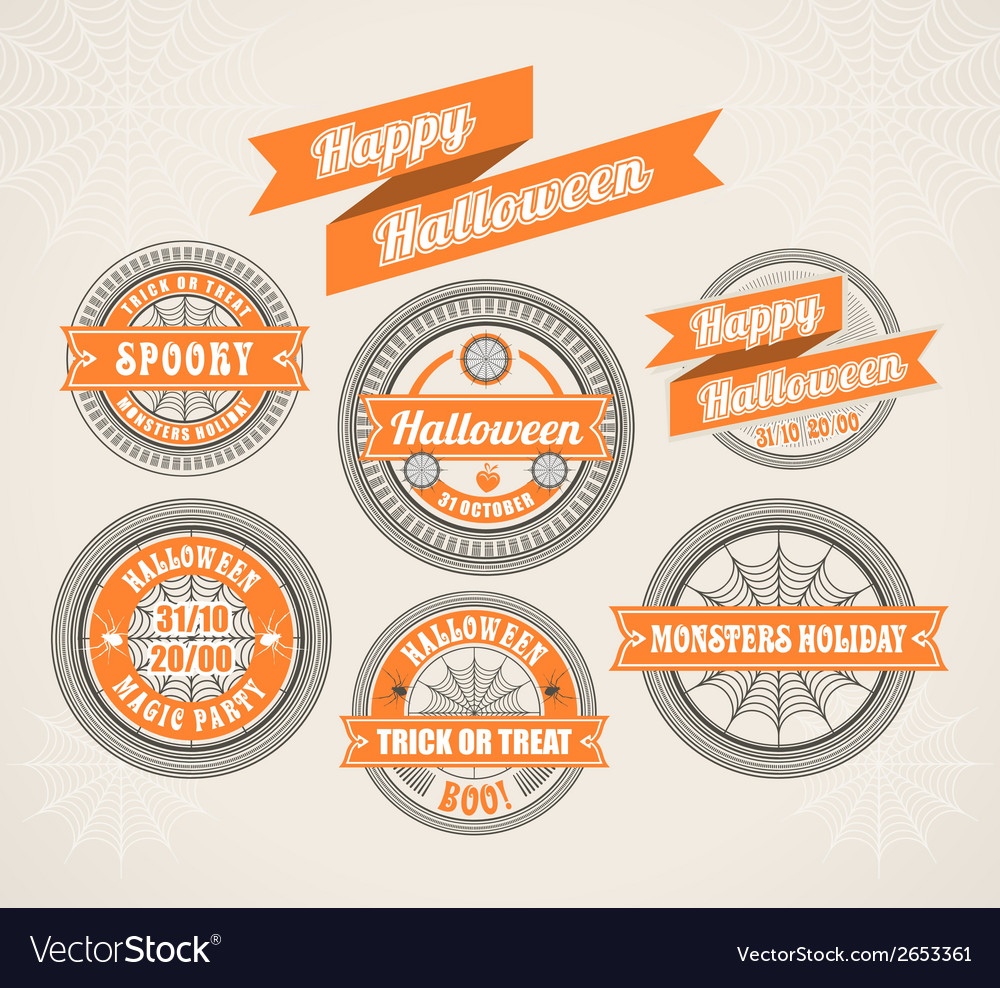 Calligraphic Design Elements Halloween