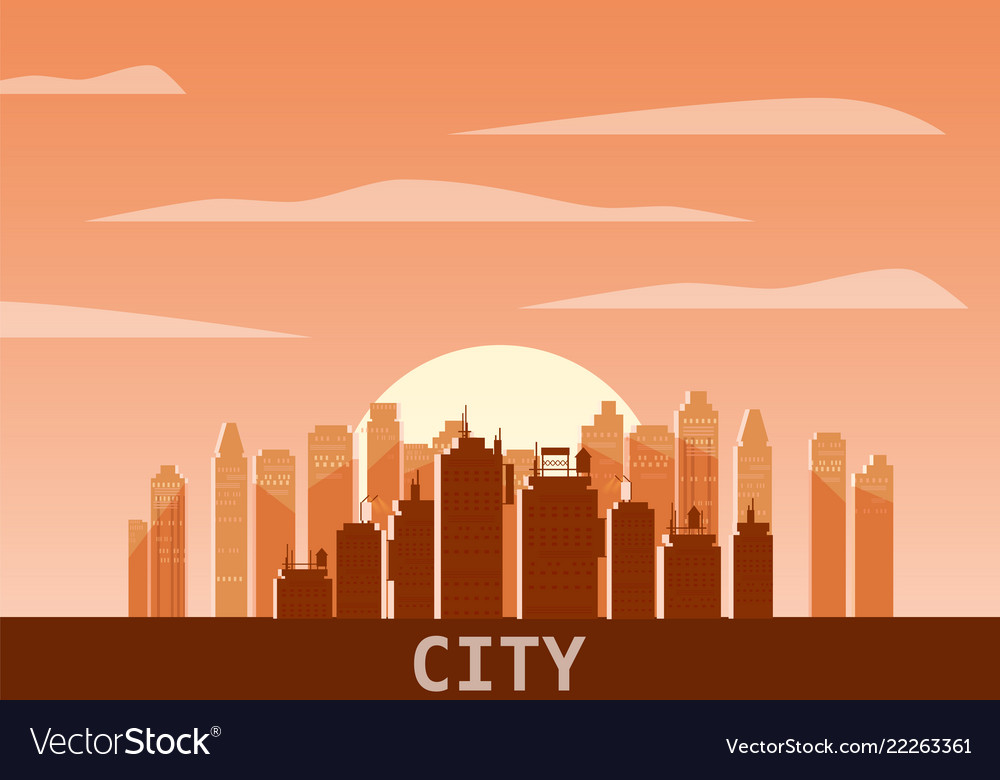 Cityscape day modern city skyline panoramic