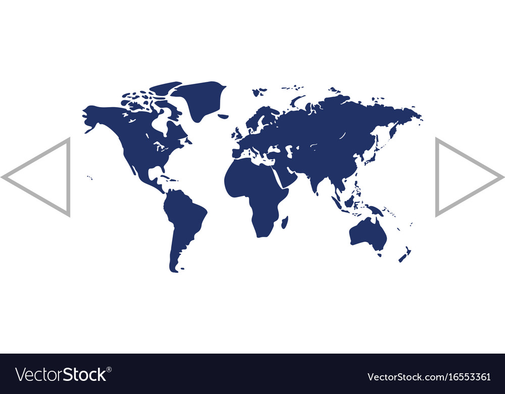 Flat World Map Vector.Flat Paper Cut Style Icon Of World Map Royalty Free Vector