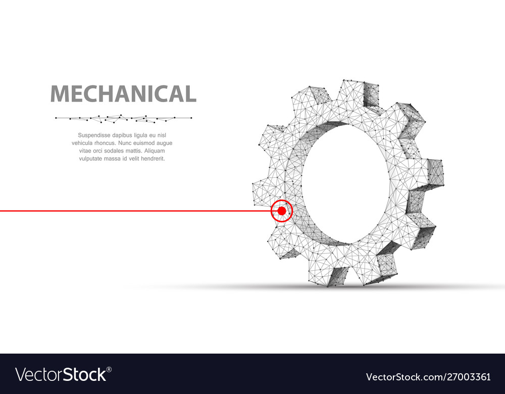 Gears abstract 3d wireframe single laser