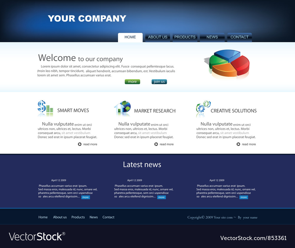 Glossy website template