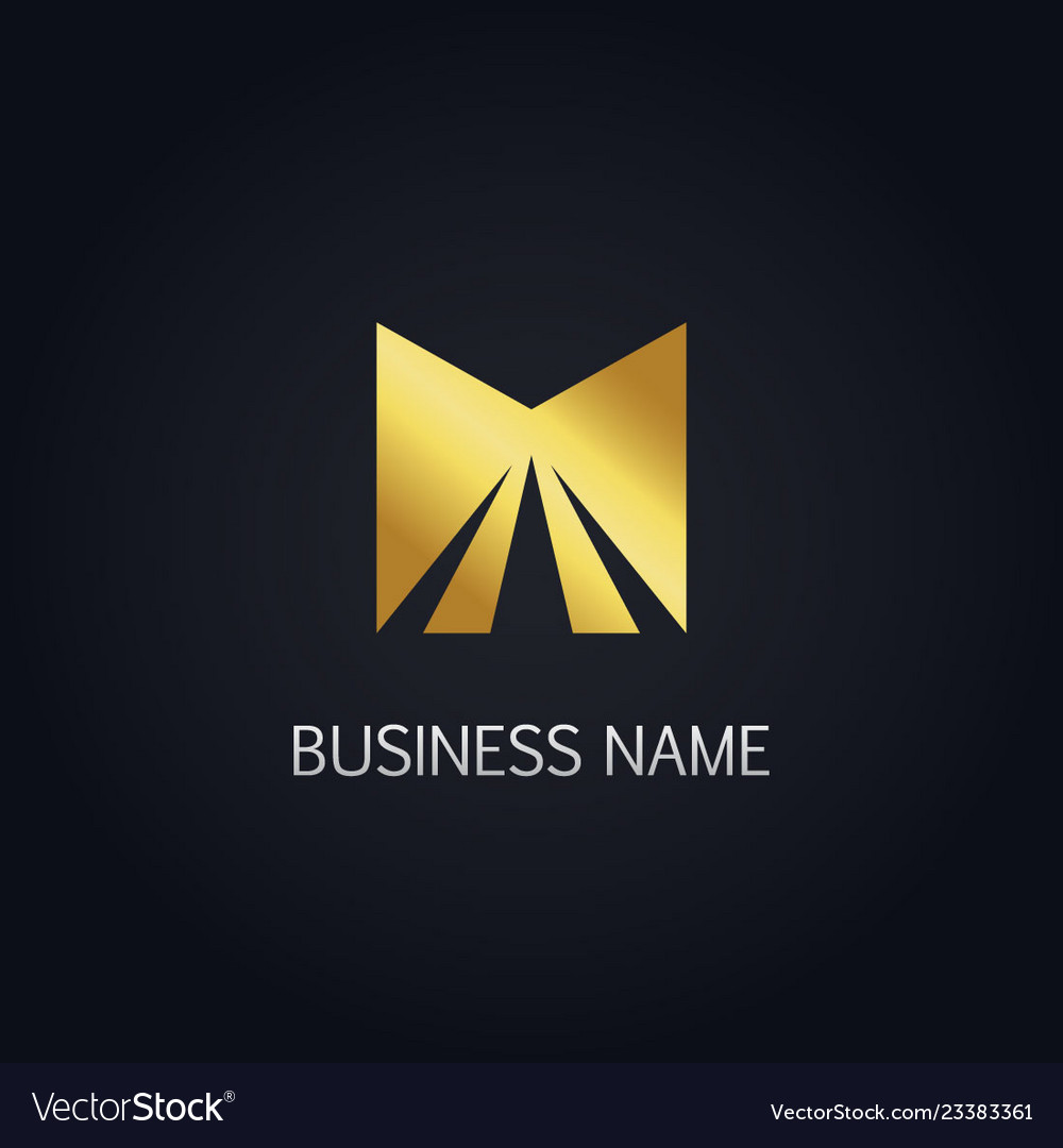 Gold square shine logo