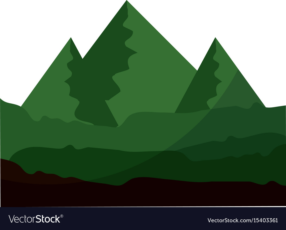 Isolated mountains view