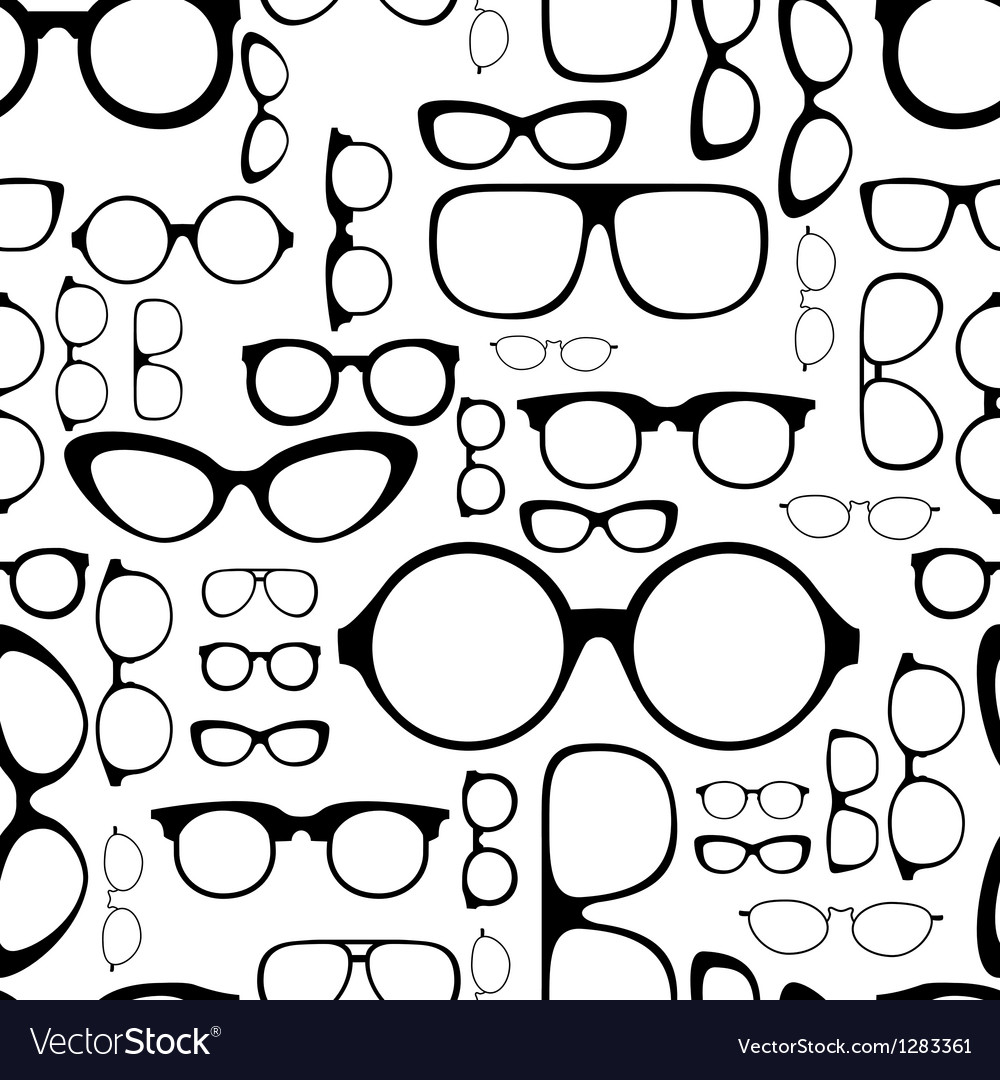 Seamless pattern from glasses vector image