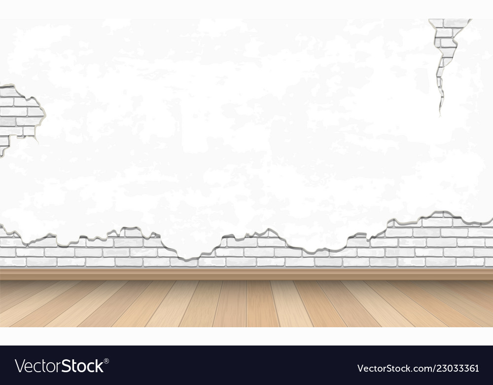 White old wall and parquet floor