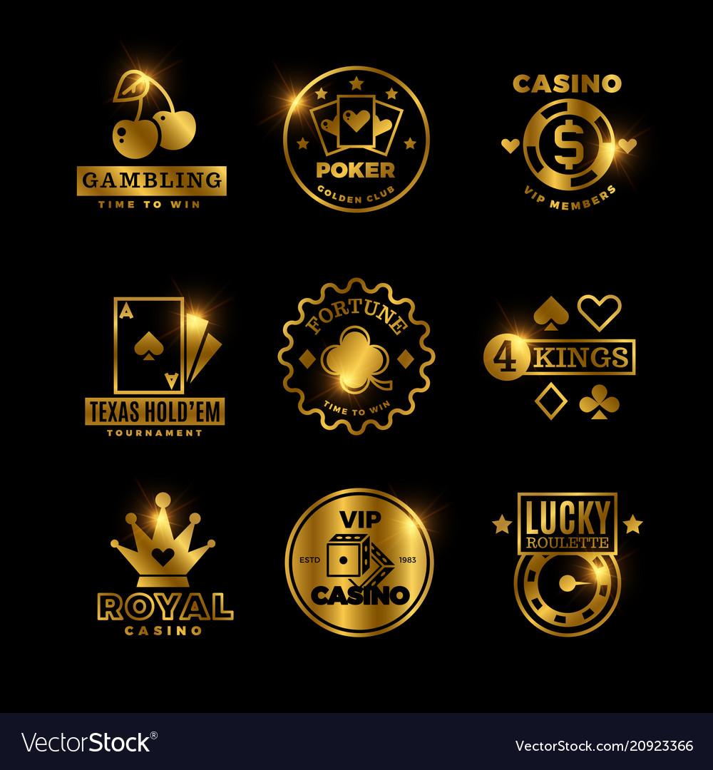 Golden Gambling Casino Poker Royal Tournament Vector Image