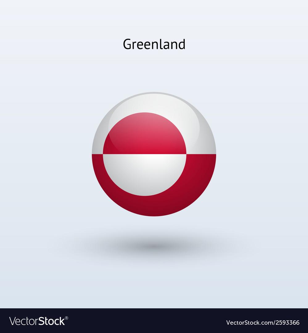 Greenland round flag