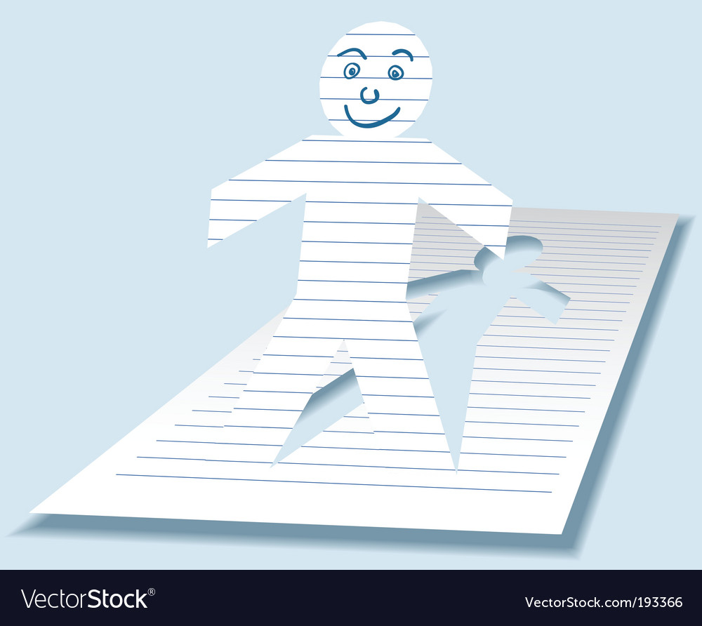 Paper man vector image