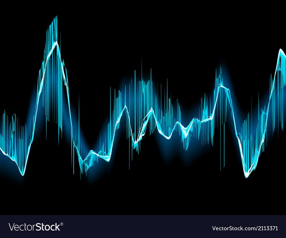 Bright sound wave on a dark blue EPS 10