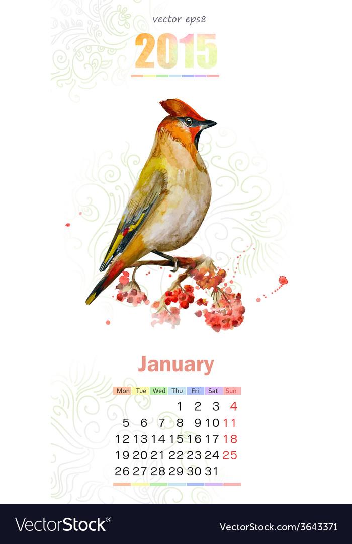 Calendar for 2015 January