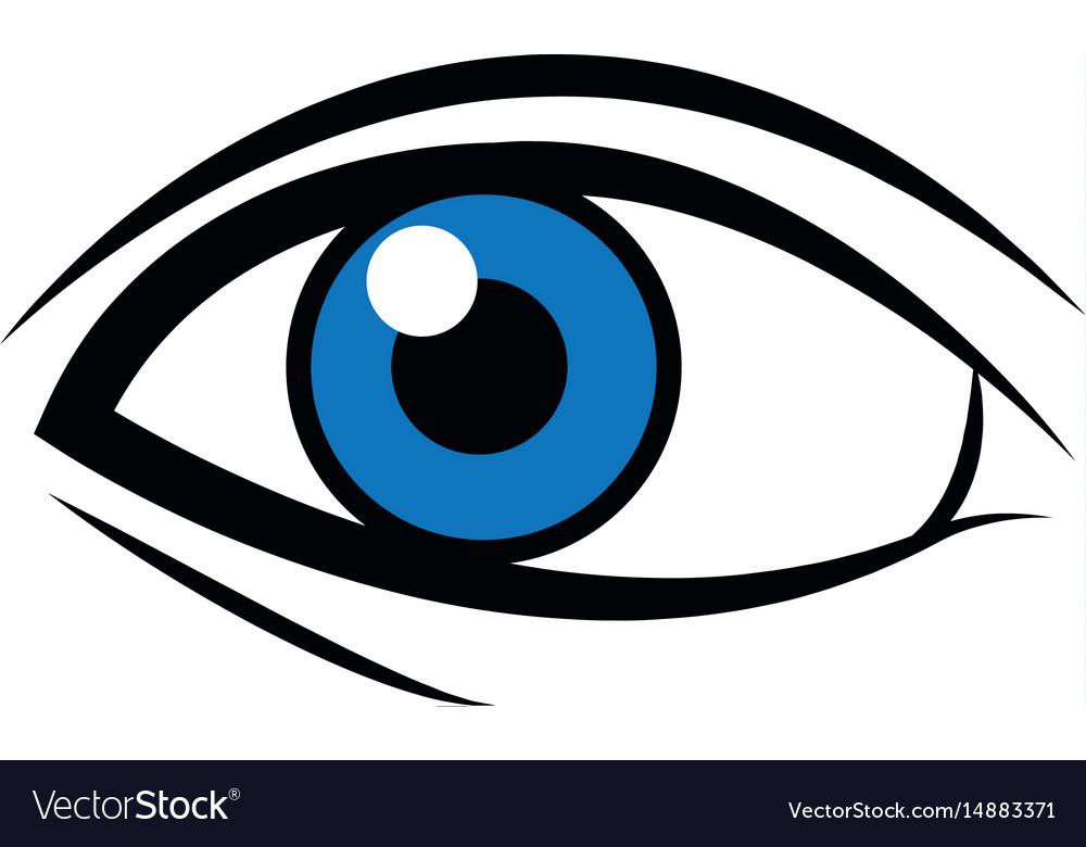 Comic Blue Eye Look Optical Style Royalty Free Vector Image