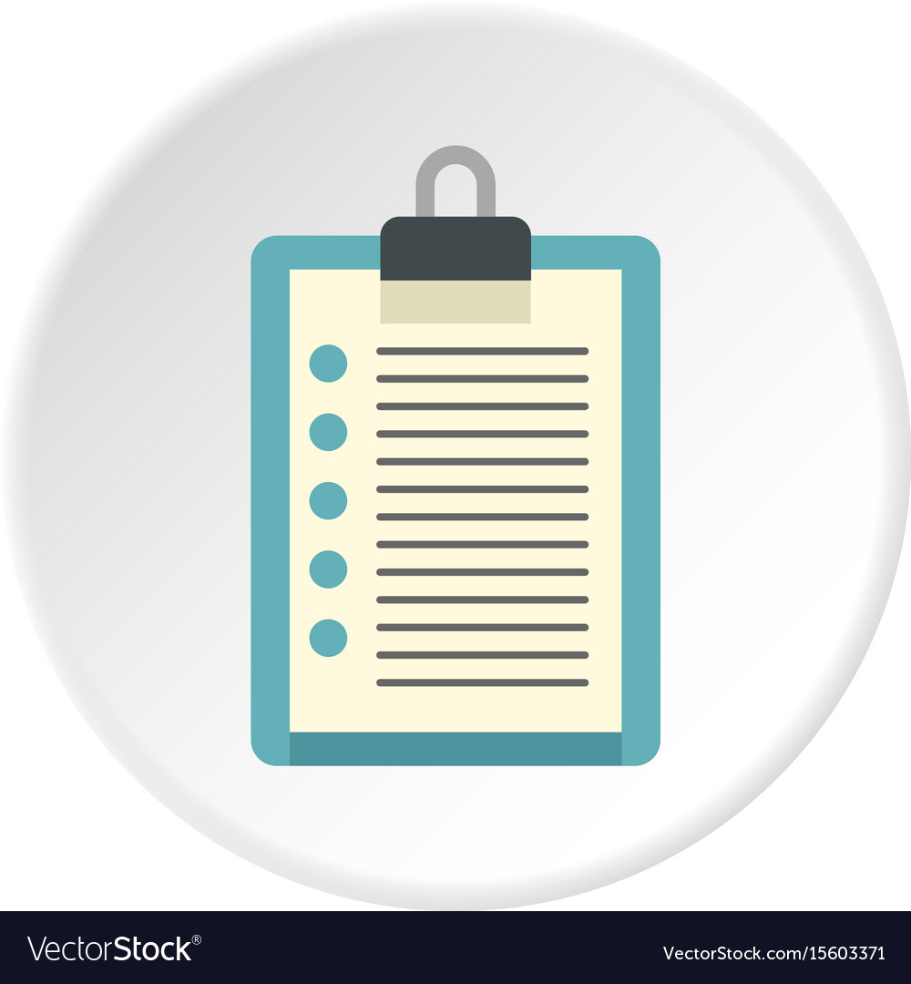 Document plan icon circle vector image