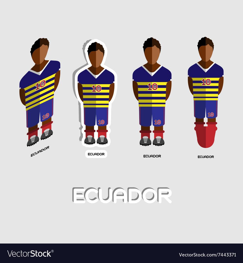 7942a912d2d Ecuador Soccer Team Sportswear Template Royalty Free Vector