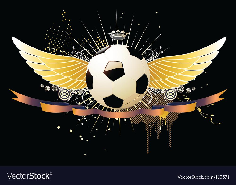 Football emblems vector image
