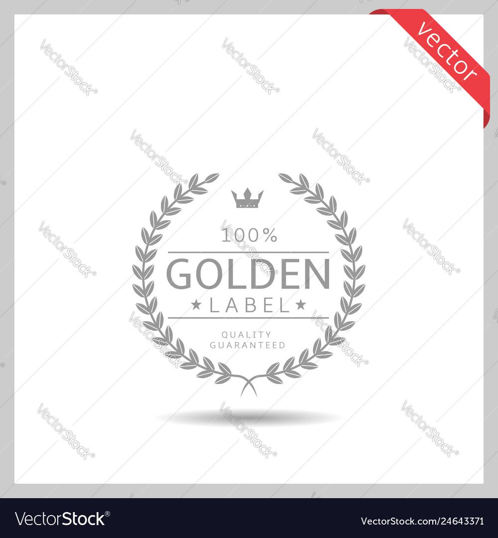 Golden label icon