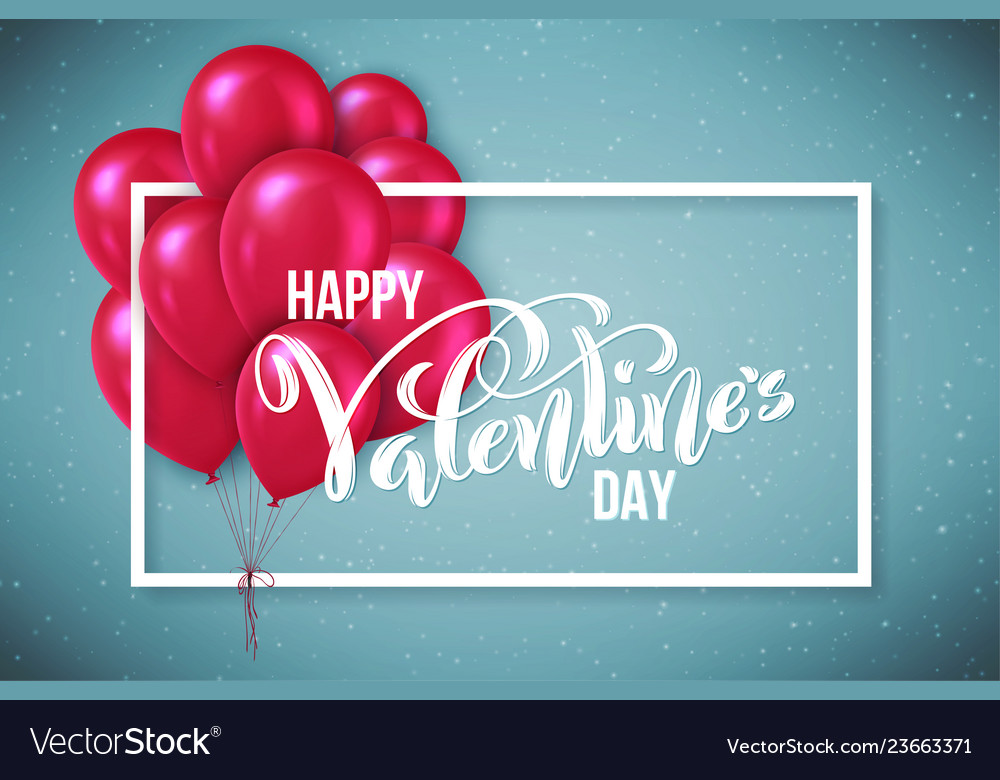 Happy valentines day card template poster with