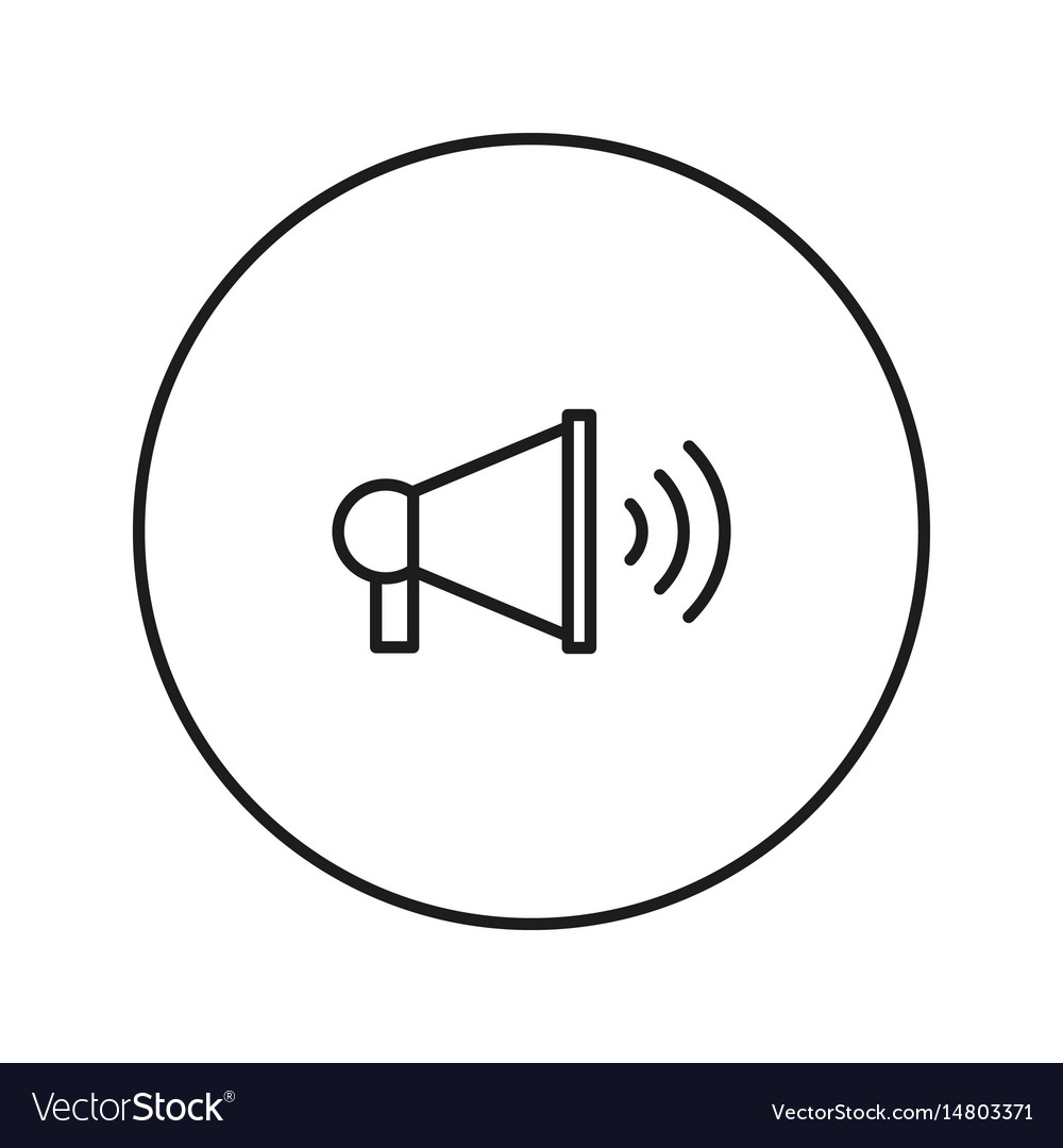 Megaphone icon silhouette vector image
