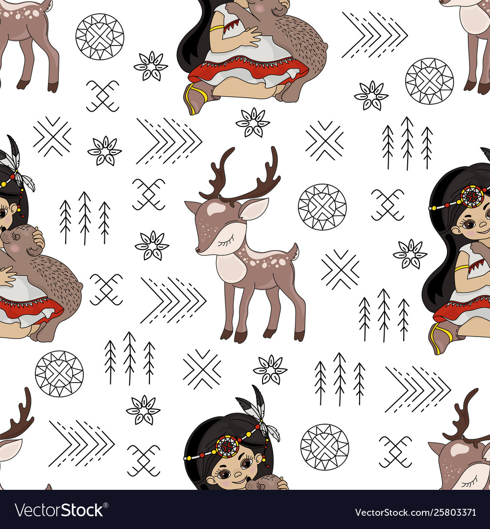 Pocahontas deer cartoon american native culture se