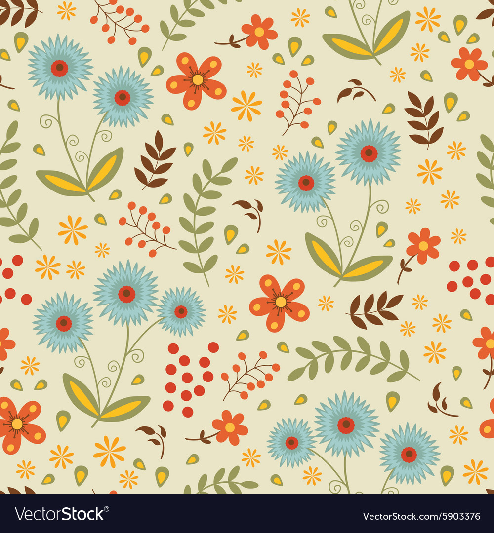 A beautiful seamless floral pattern