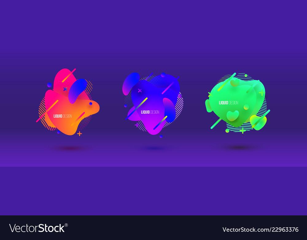 Abstract design set liquid shapes