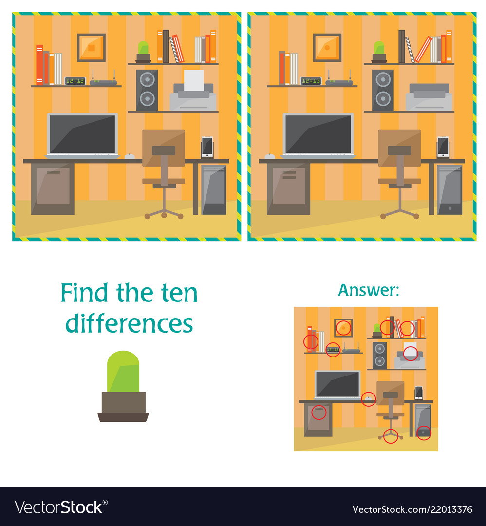 Cartoon of finding differences between