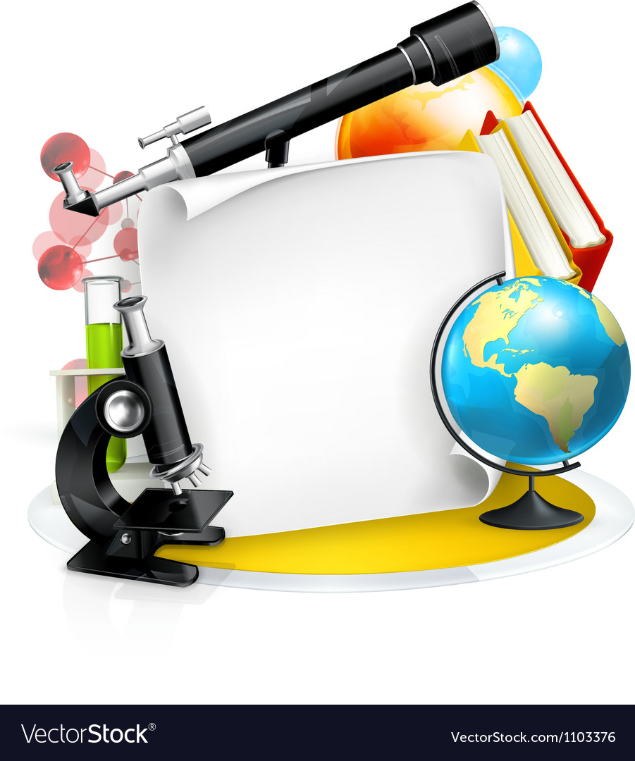Education and Science frame Royalty Free Vector Image