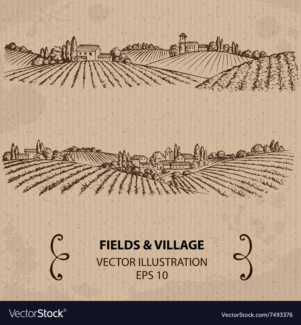 Fields and Village