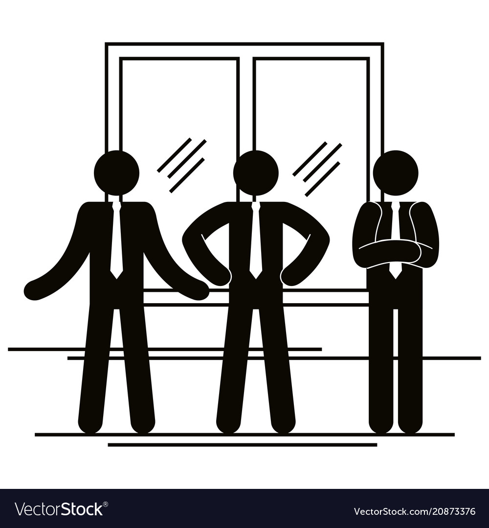 Group of business people with window teamwork