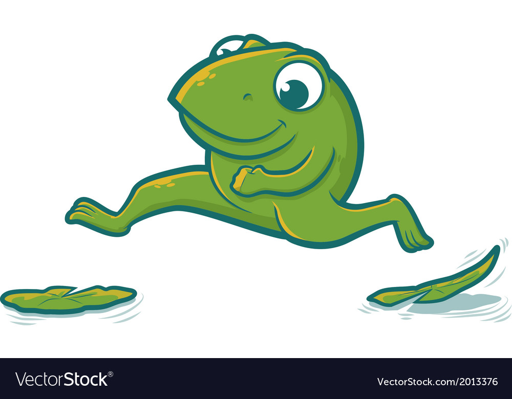 leaping frog royalty free vector image vectorstock rh vectorstock com Hopping Frog Clip Art Hop Like a Frog
