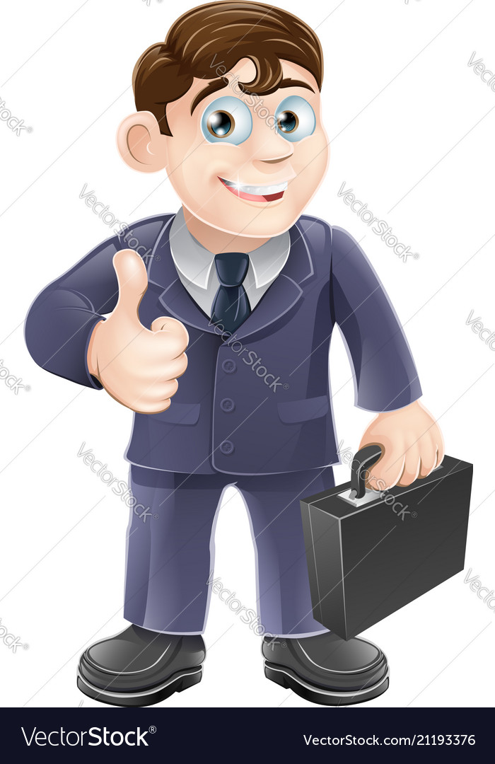 Man in suit thumbs up drawing