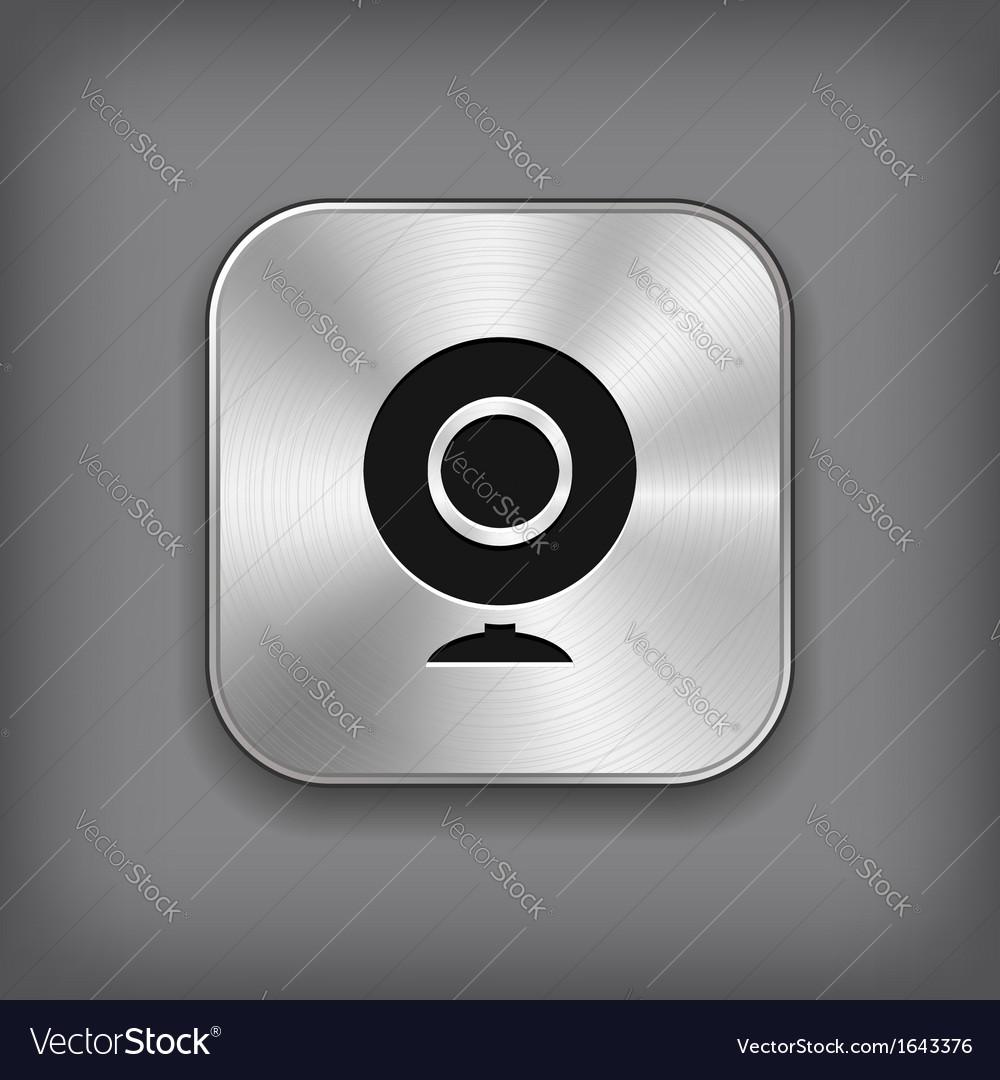 Webcamera icon - metal app button