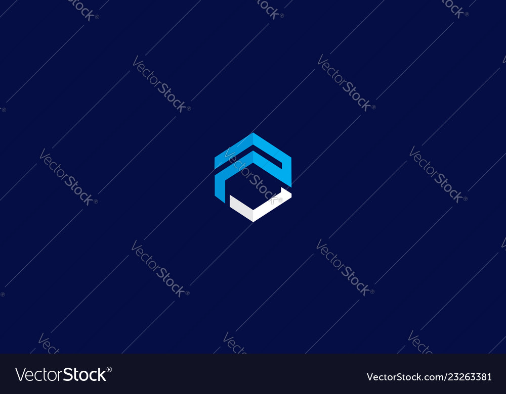 Abstract geometry logo icon technology