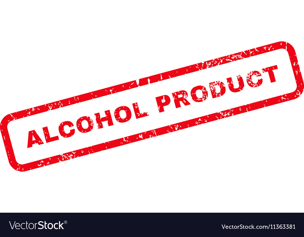 Alcohol Product Text Rubber Stamp
