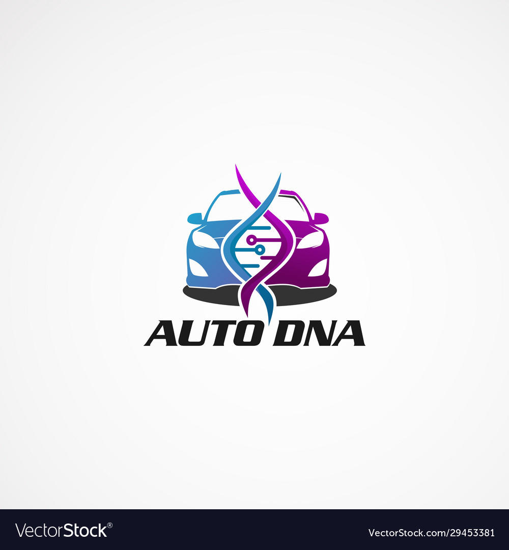 Auto dna logo concept