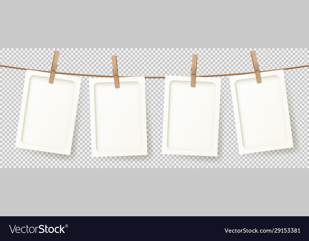 Banner with realistic retro photo frames