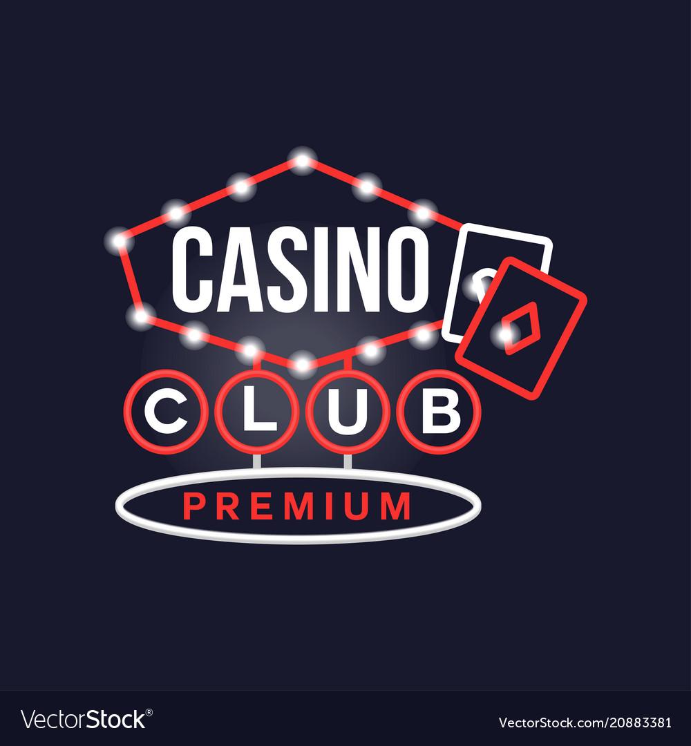 Casino premium club retro neon sign vintage