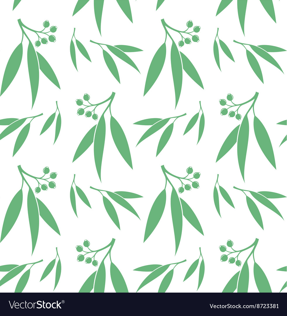 Eucalyptus Seamless pattern
