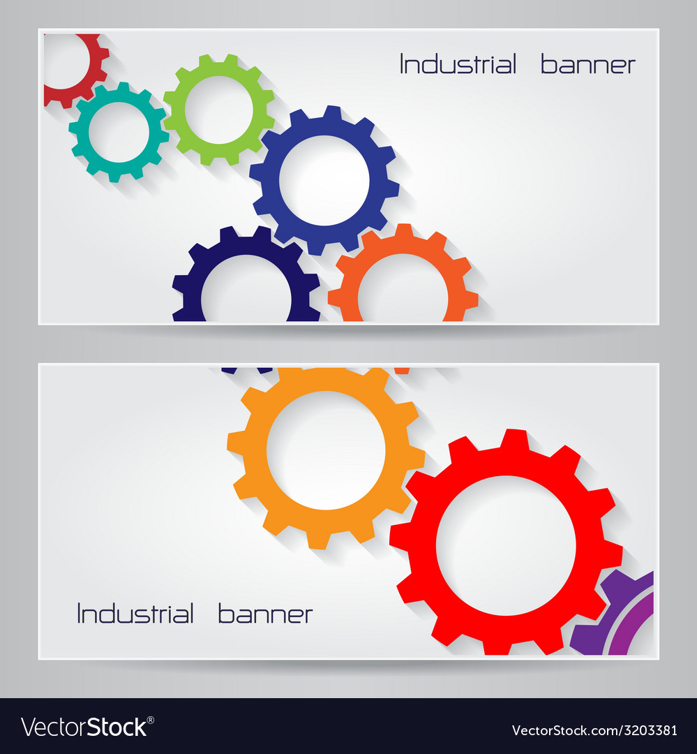 Industrial banner background concept