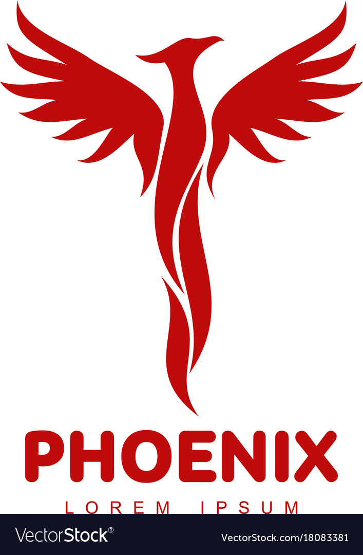 phoenix bird logo royalty free vector image vectorstock rh vectorstock com phoenix bird logo design phoenix bird logo vector