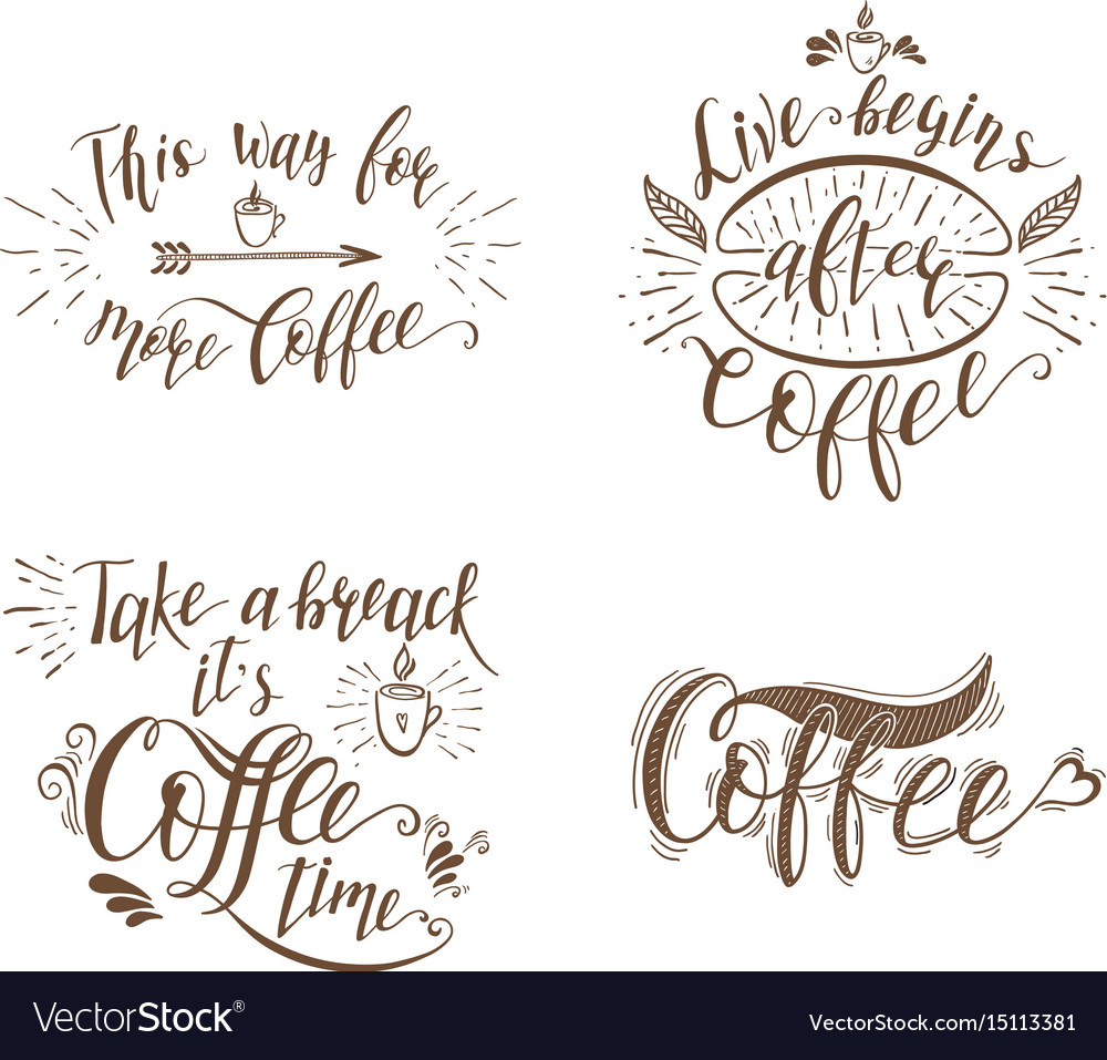 Set of quotes for coffee
