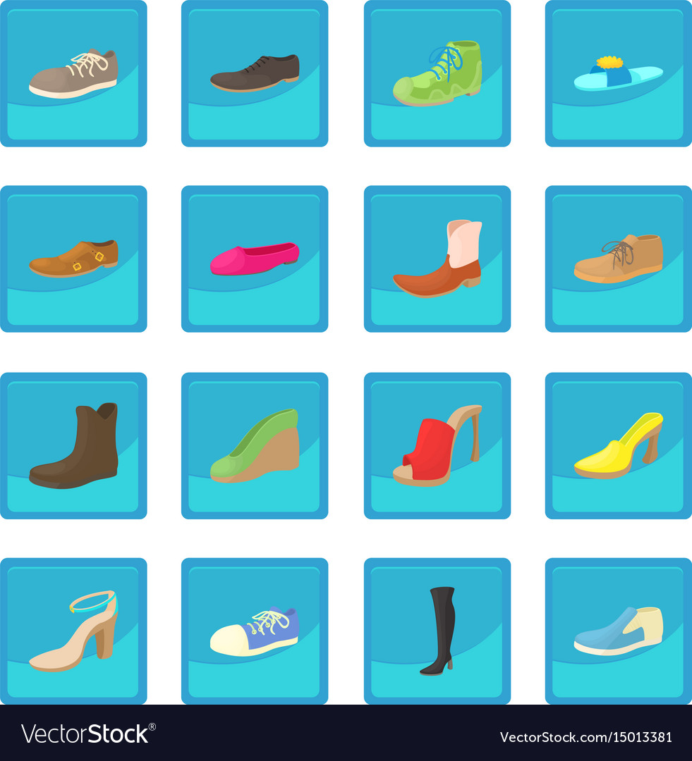 Shoes icon blue app vector image